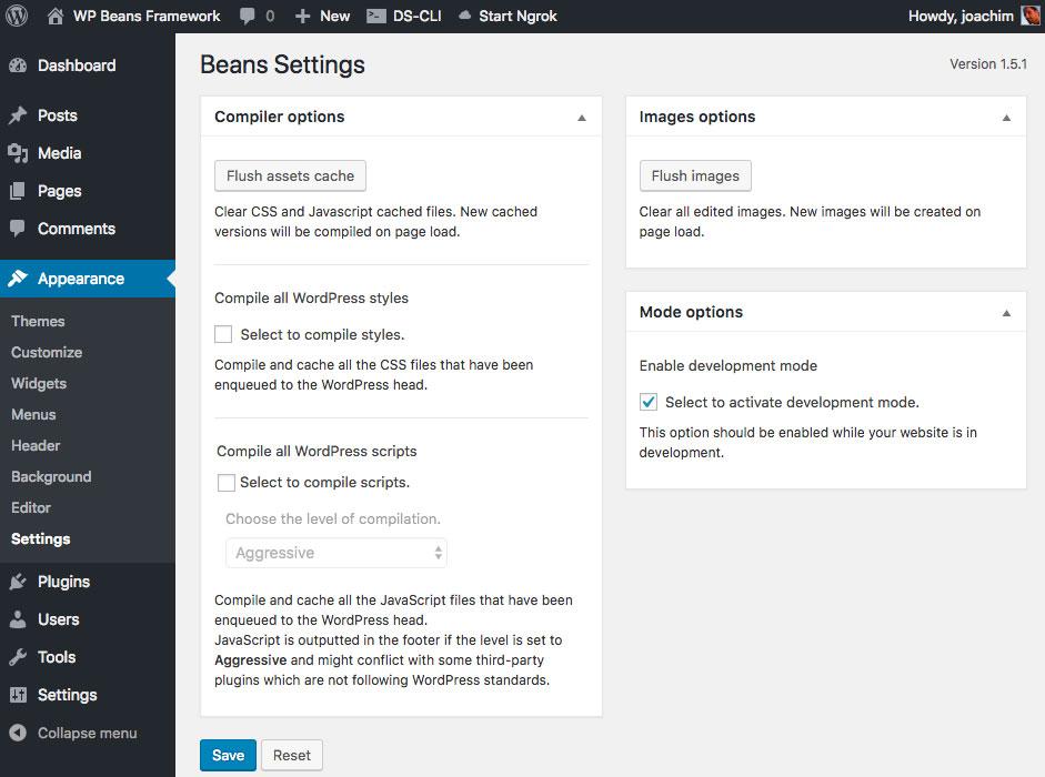 Beans-Enable-Development-Mode